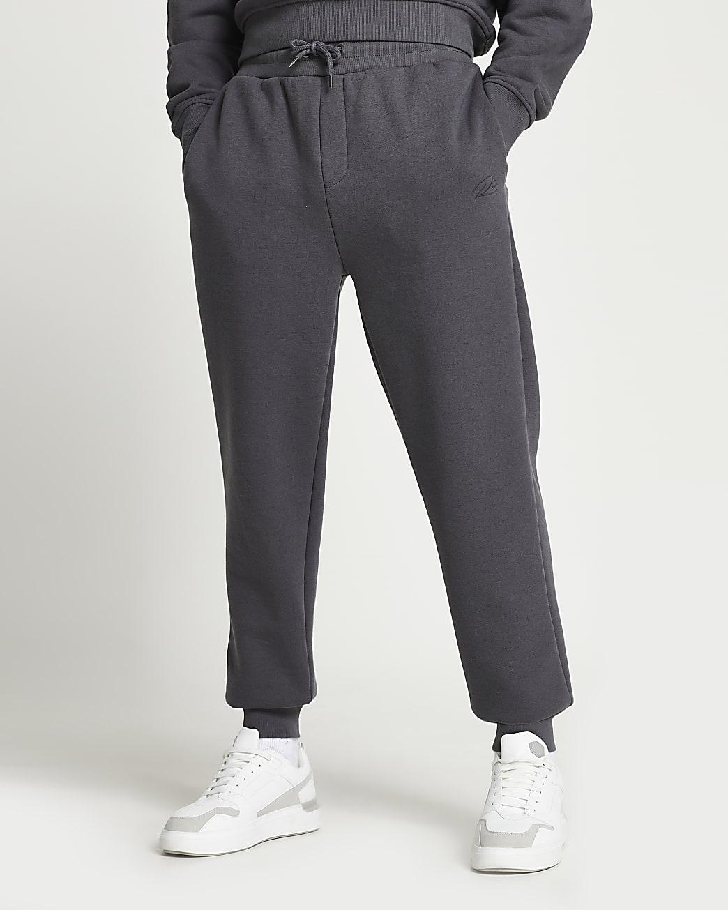 Grey RI slim fit tapered joggers
