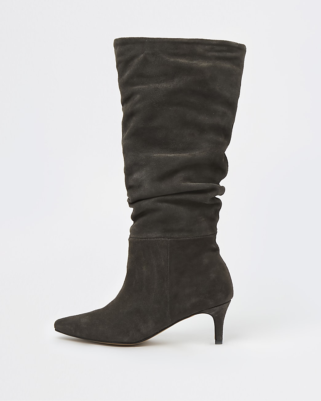 Grey RI Studio Leather Slouch Boots