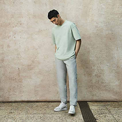 Grey RI Studio slim fit chino trousers