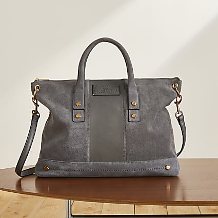 Grey RI Studio soft leather tote handbag