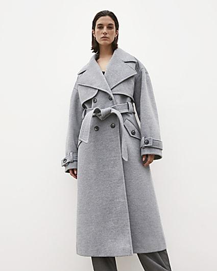 Grey RI Studio trench coat