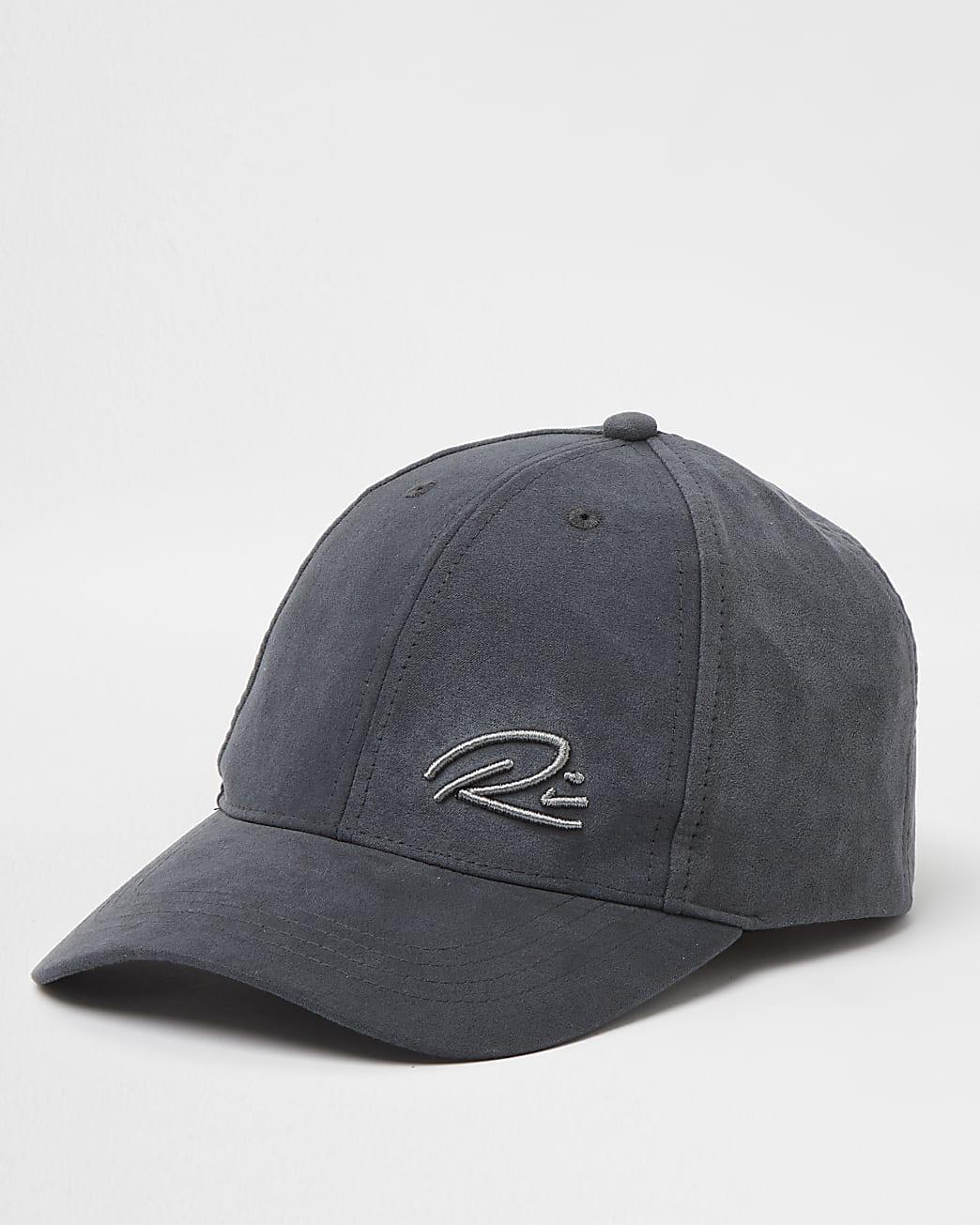 Grey RI suedette cap