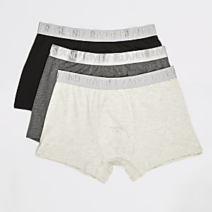 RI – Slips in Grau, 3er Pack