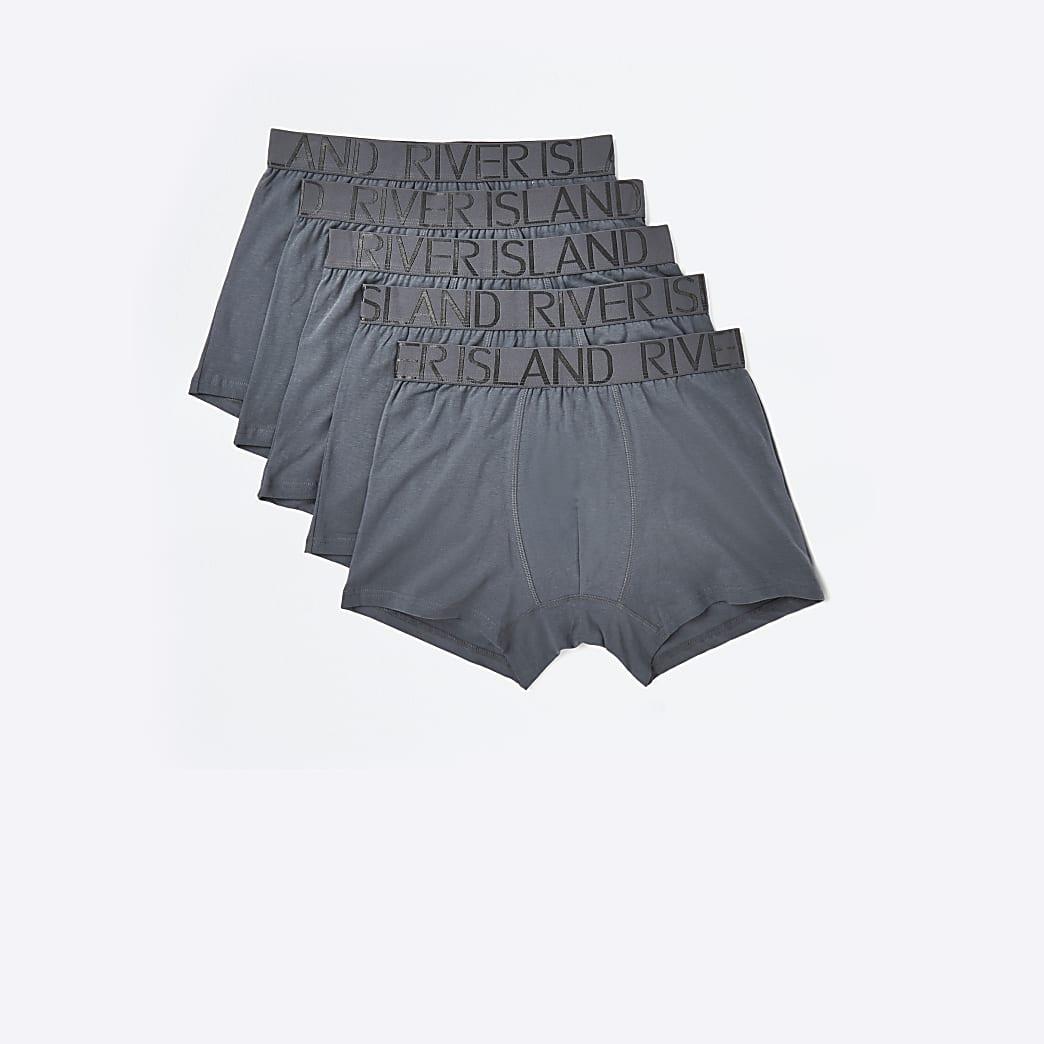 Grey RI trunks 5 pack