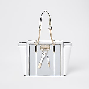 Grey RI winged shopper tote bag