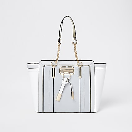 Grey RI winged shopper tote bag