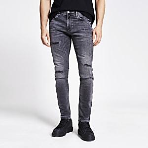 Sid grijze ripped skinny jeans