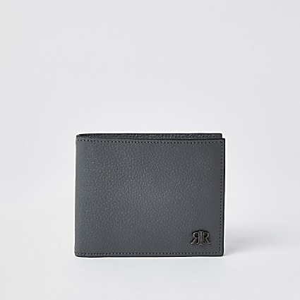 Grey 'RIR' fold out wallet