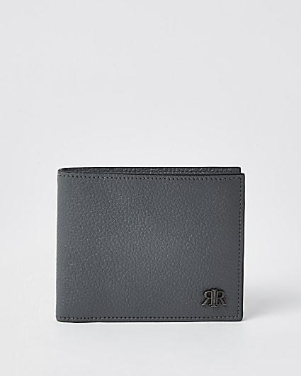 Grey 'RIR' fold out wallet