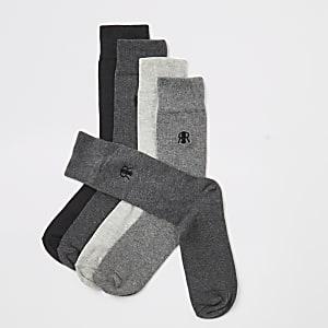 Set van 5 grijze sokken met RIR-letters