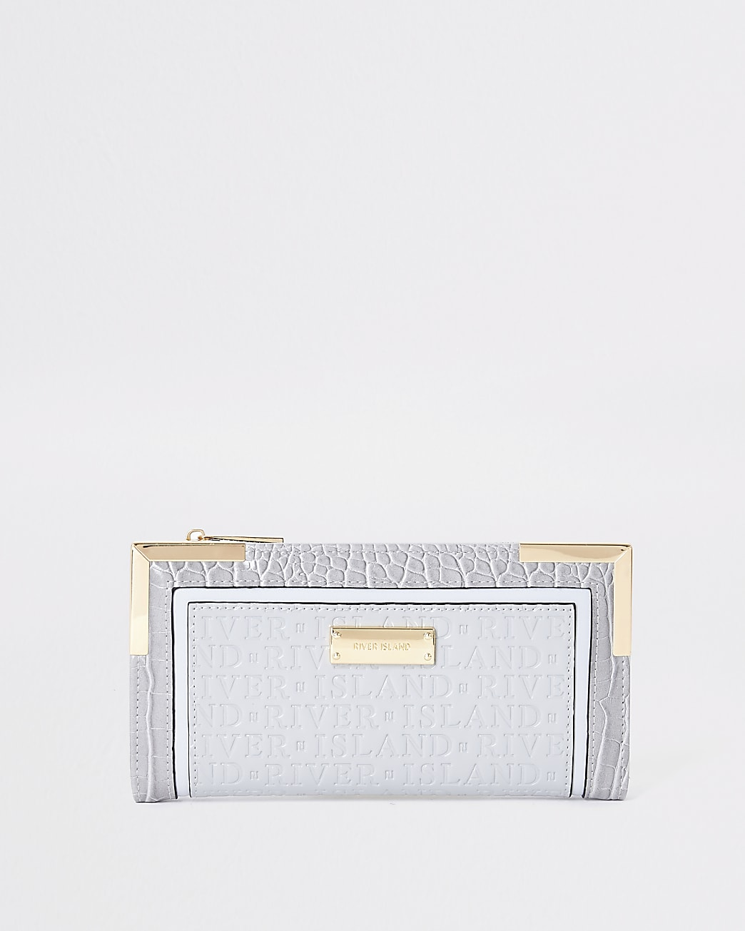 Grey river embossed purse