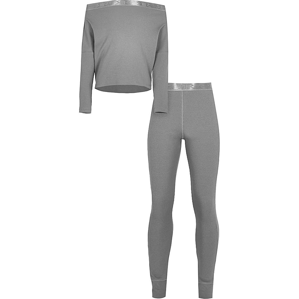 Grey RR ribbed loungewear set