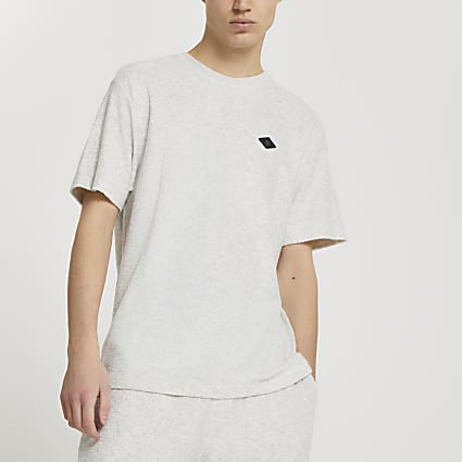 Grey 'RR' short sleeve t-shirt