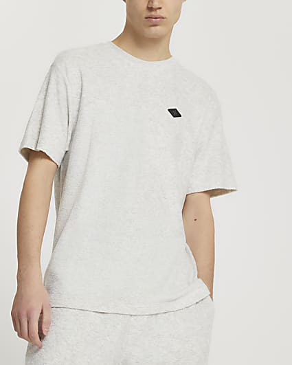 Grey 'RR' short sleeve t-shirt