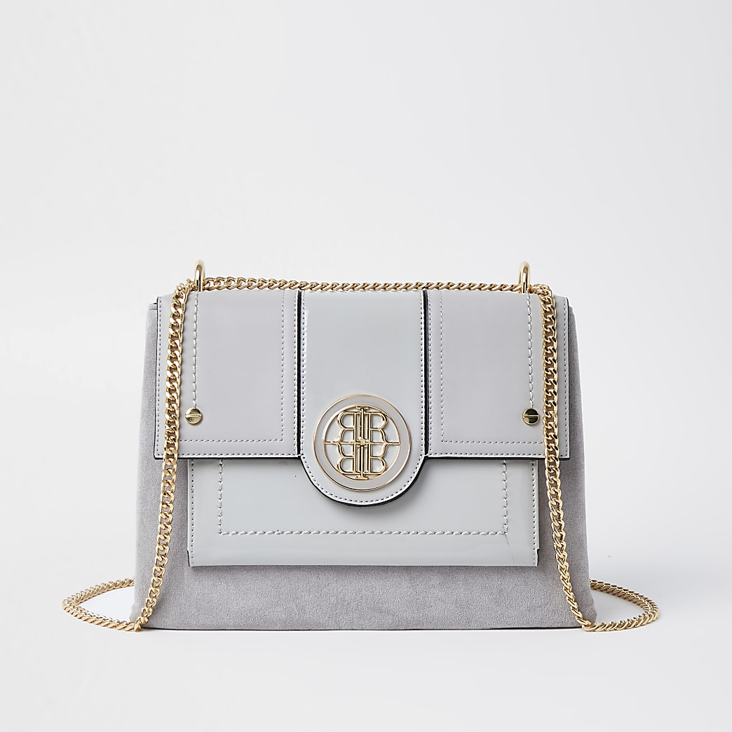 Grey RR shoulder bag