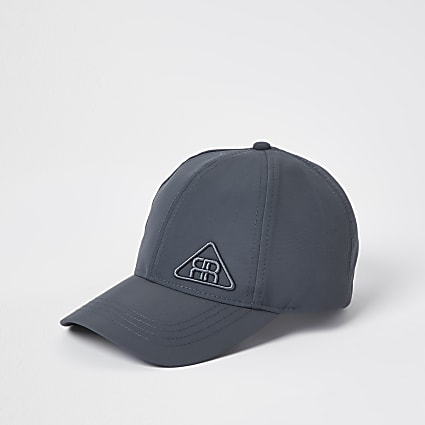 Grey rubber triangle logo nylon cap