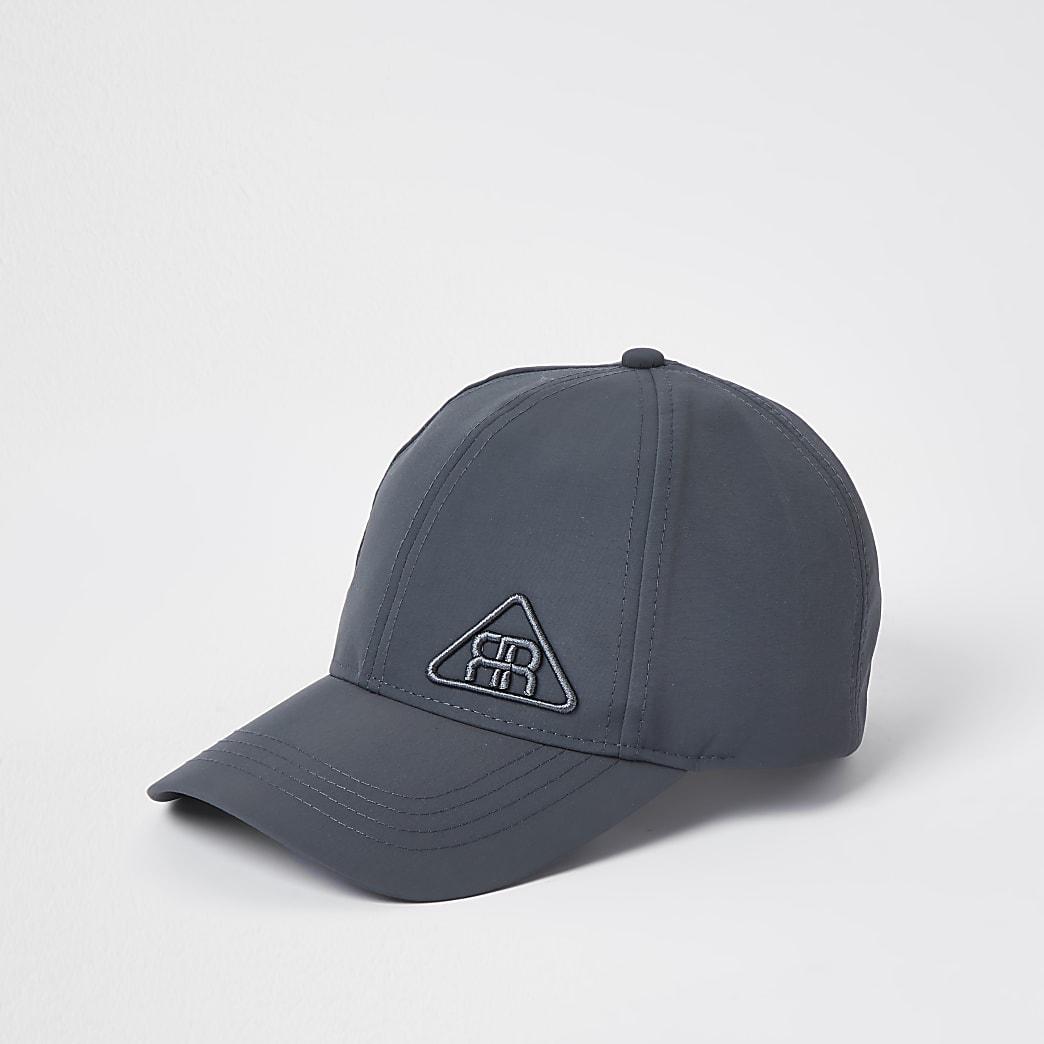 Grey rubber triangle logo nylon cap