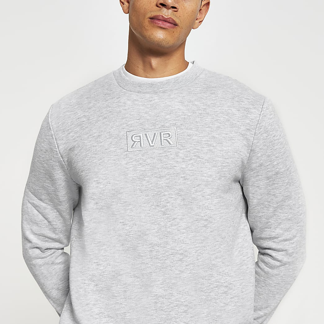 Grey RVR slim fit sweatshirt