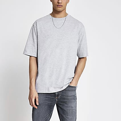 Grey short sleeve oversized T-shirt