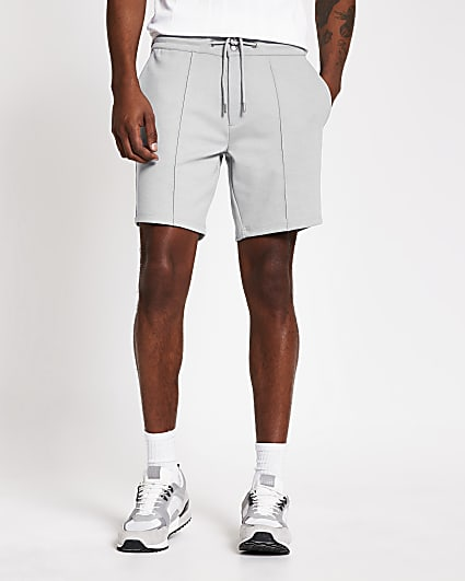 Grey Sid skinny fit jersey shorts