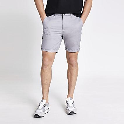 Grey Sid skinny fit shorts