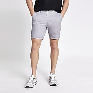 Sid – Graue Skinny Shorts