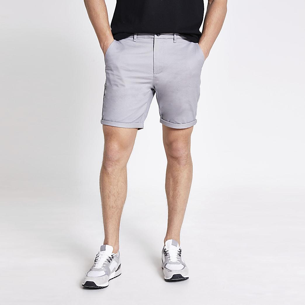 Sid - Grijze skinny-fit  shorts