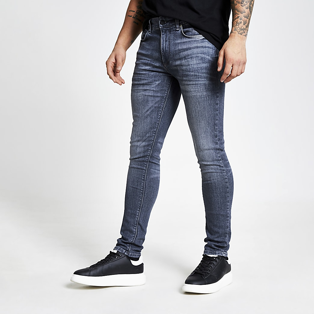 Grijze skinny-fit denim jeans