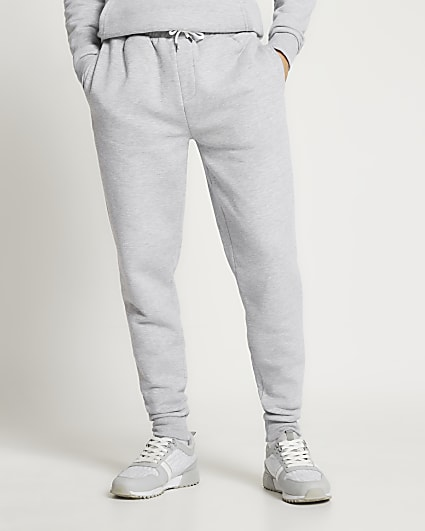 Grey slim fit basic joggers