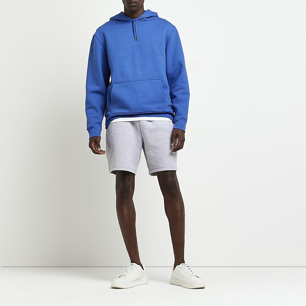 Grey slim fit RI shorts