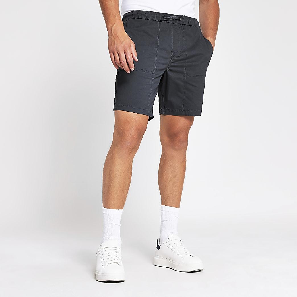 Grey slim fit short
