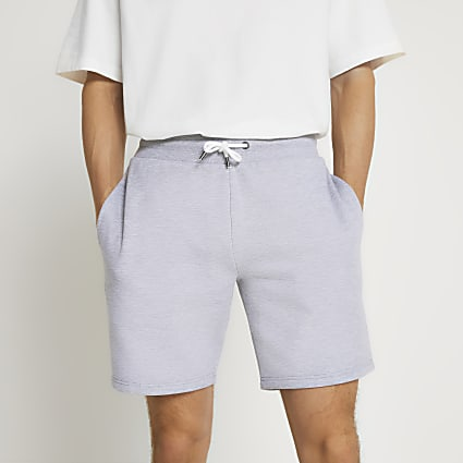 Grey slim fit shorts