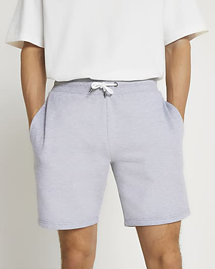 Grey slim fit shorts