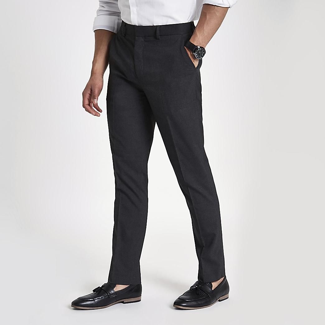 Graue, elegante Slim Fit Hose