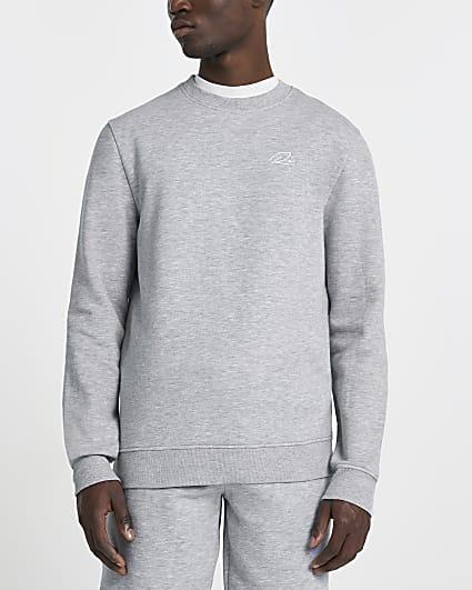 Grey slim fit sweatshirt