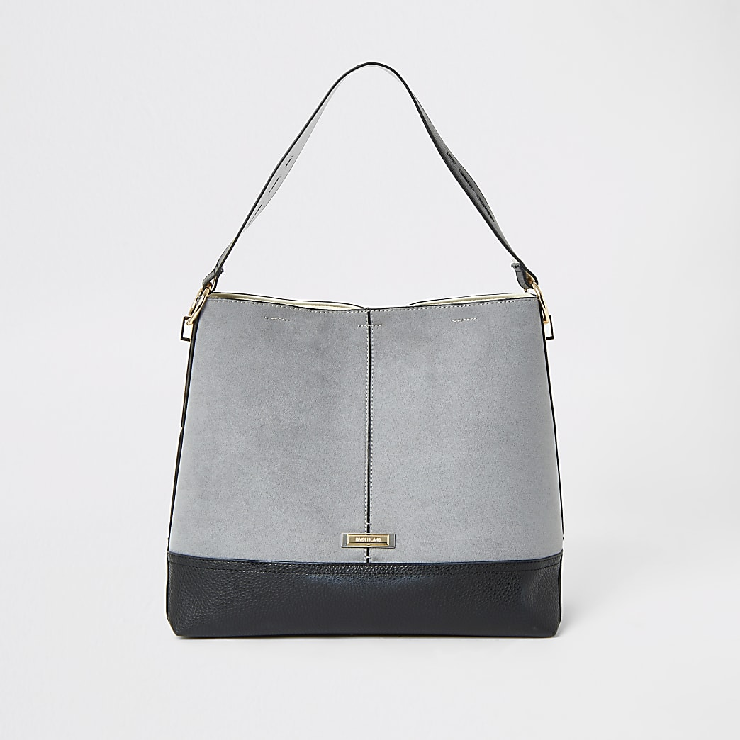 Grey Slouch Bag River Island