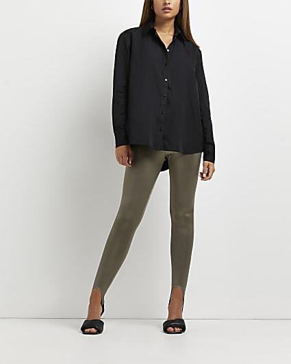 Grey stirrup leggings