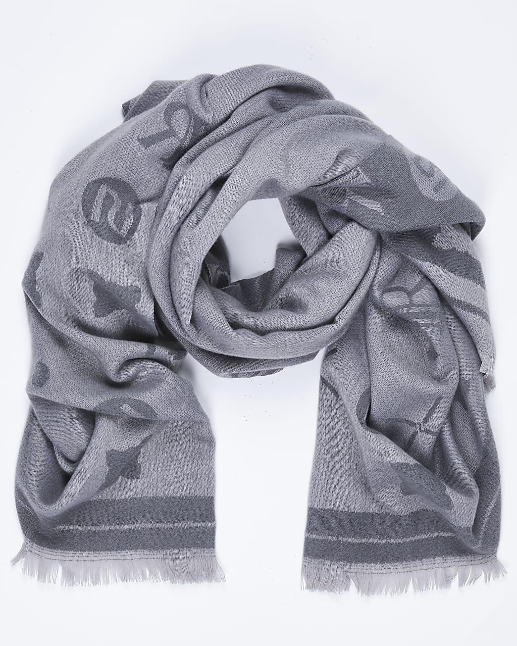 Grey super soft RI logo scarf