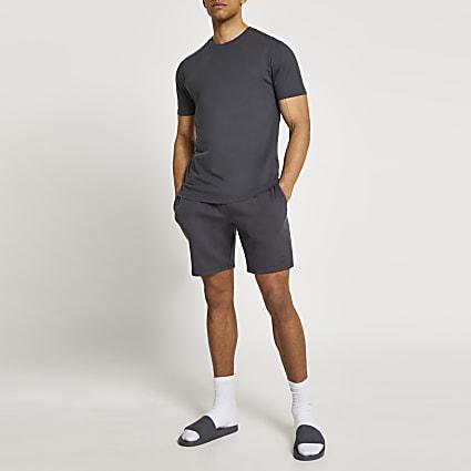 Grey t-shirt and shorts set