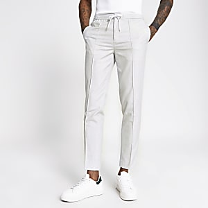 Pantalon de jogging habillé skinnytexturégris