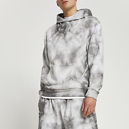 Grey tie dye hoodie