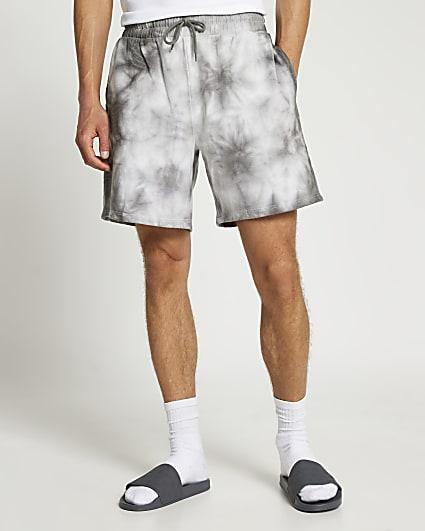Grey tie dye shorts