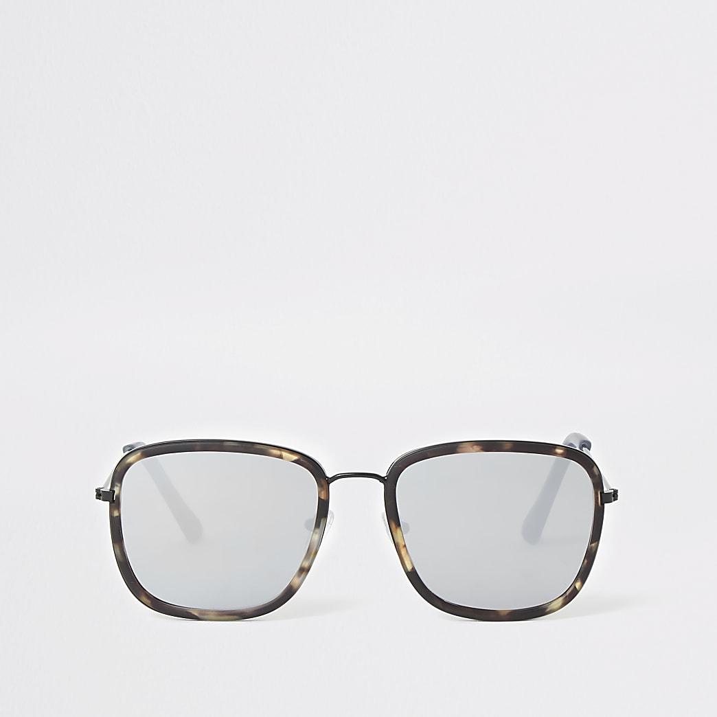 Grijze met tortoise zonnebril