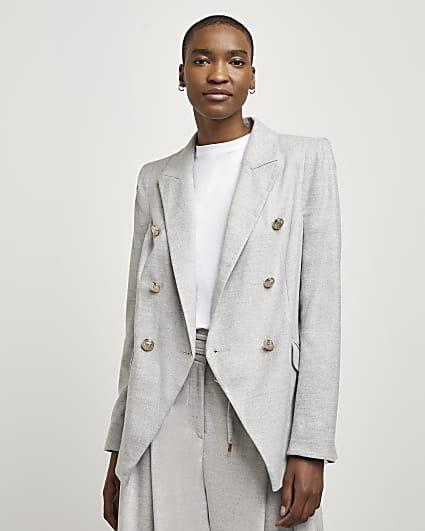 Grey tuxedo jacket