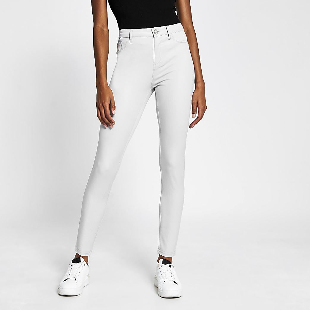 Grey twill molly skinny trousers