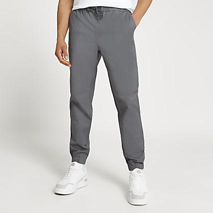 Grey washed casual slim fit chinos