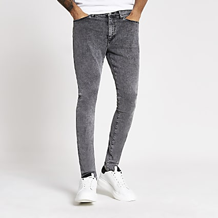 Grey washed Danny super skinny jeans