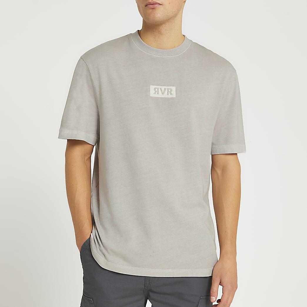 Grey washed drench RVR t-shirt