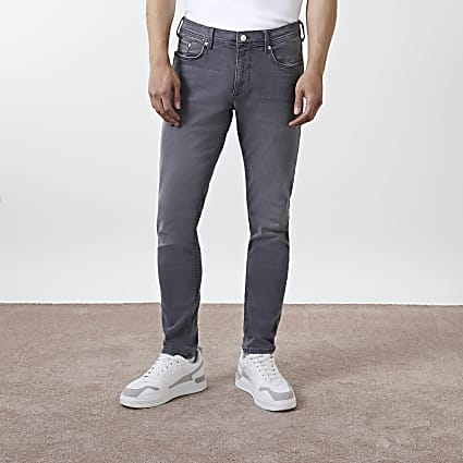 Grey washed Sid skinny jeans