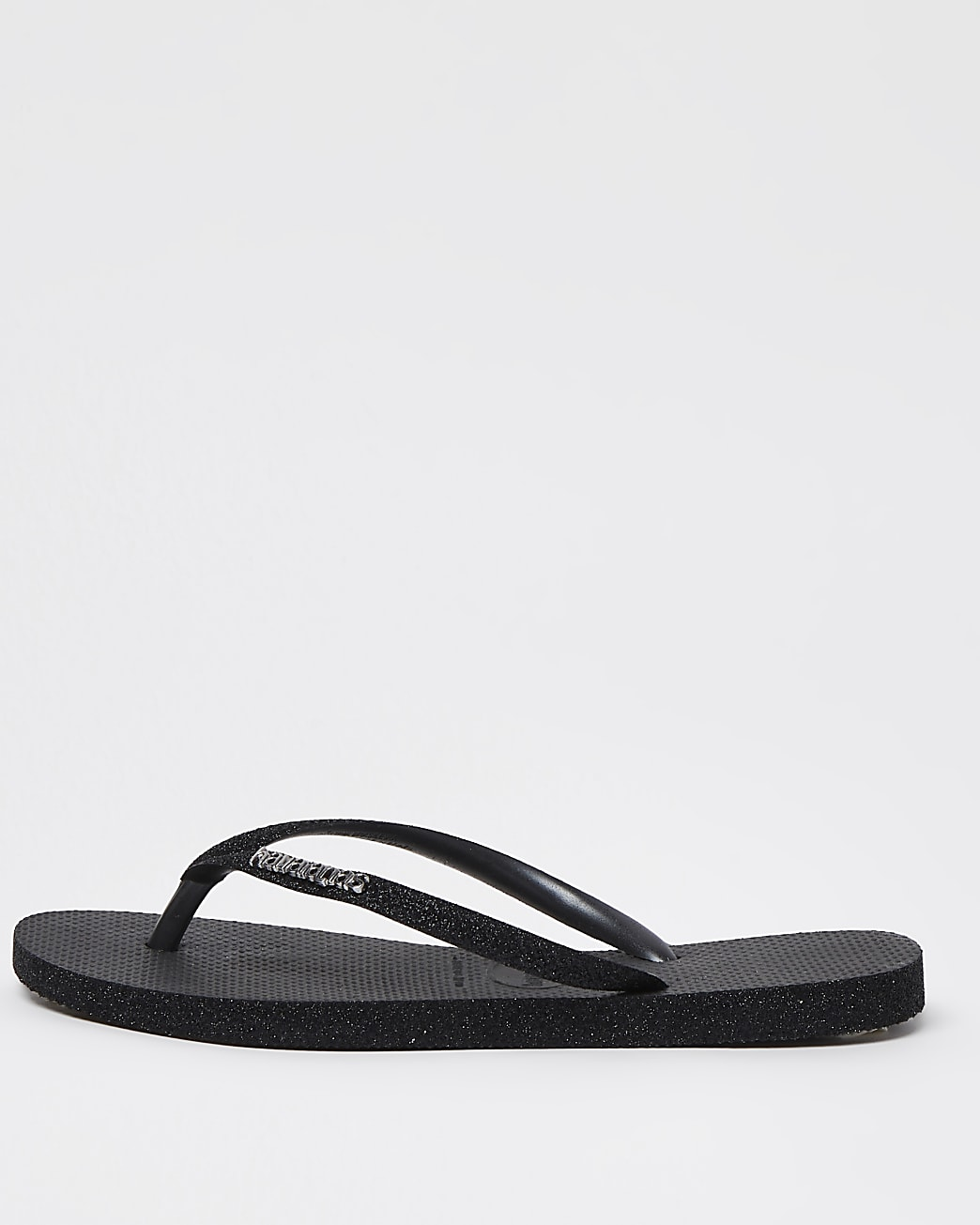 Havaiana black slim sparkle flip flops